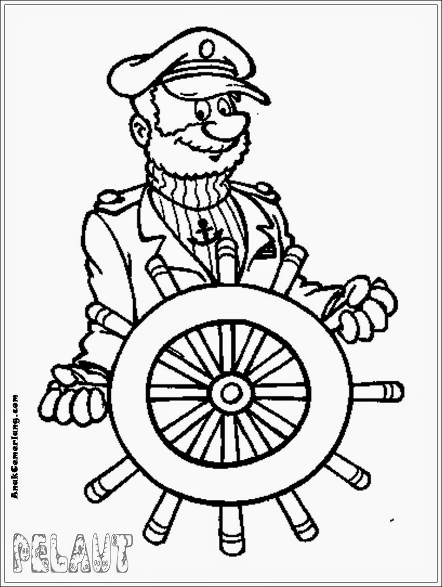 mewarnai gambar profesi pekerja konstruksi mewarnai gambar profesi pelaut