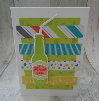 Stampin' Up! UK Independent  Demonstrator Susan Simpson, Craftyduckydoodah!, Bubble Over, Bottles & Bubbles, January 2018 Coffee & Cards project, Supplies available 24/7 from my online store,
