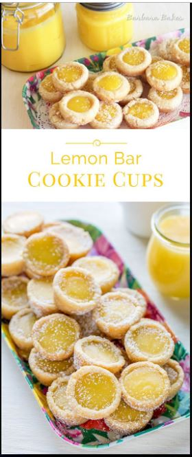 Lemon Bar Cookie Cups