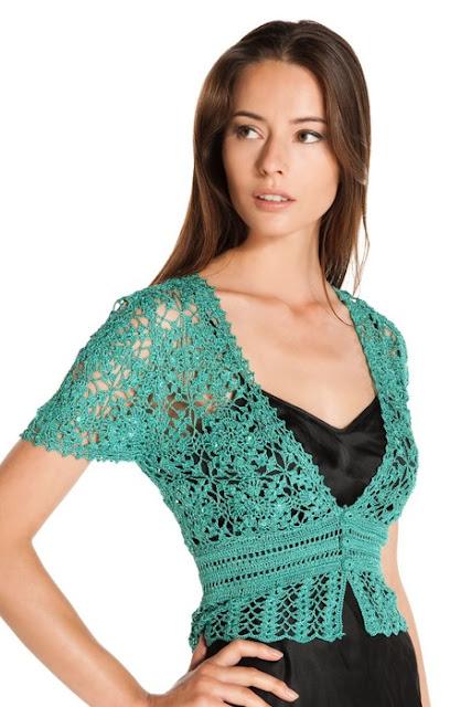Patrón 1055 Delicado Chaleco a Crochet