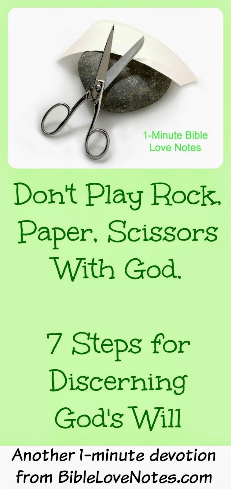 Understanding God's Will, 7 Steps for discerning God's Will