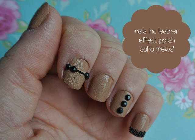 nails inc leather effect polish swatch