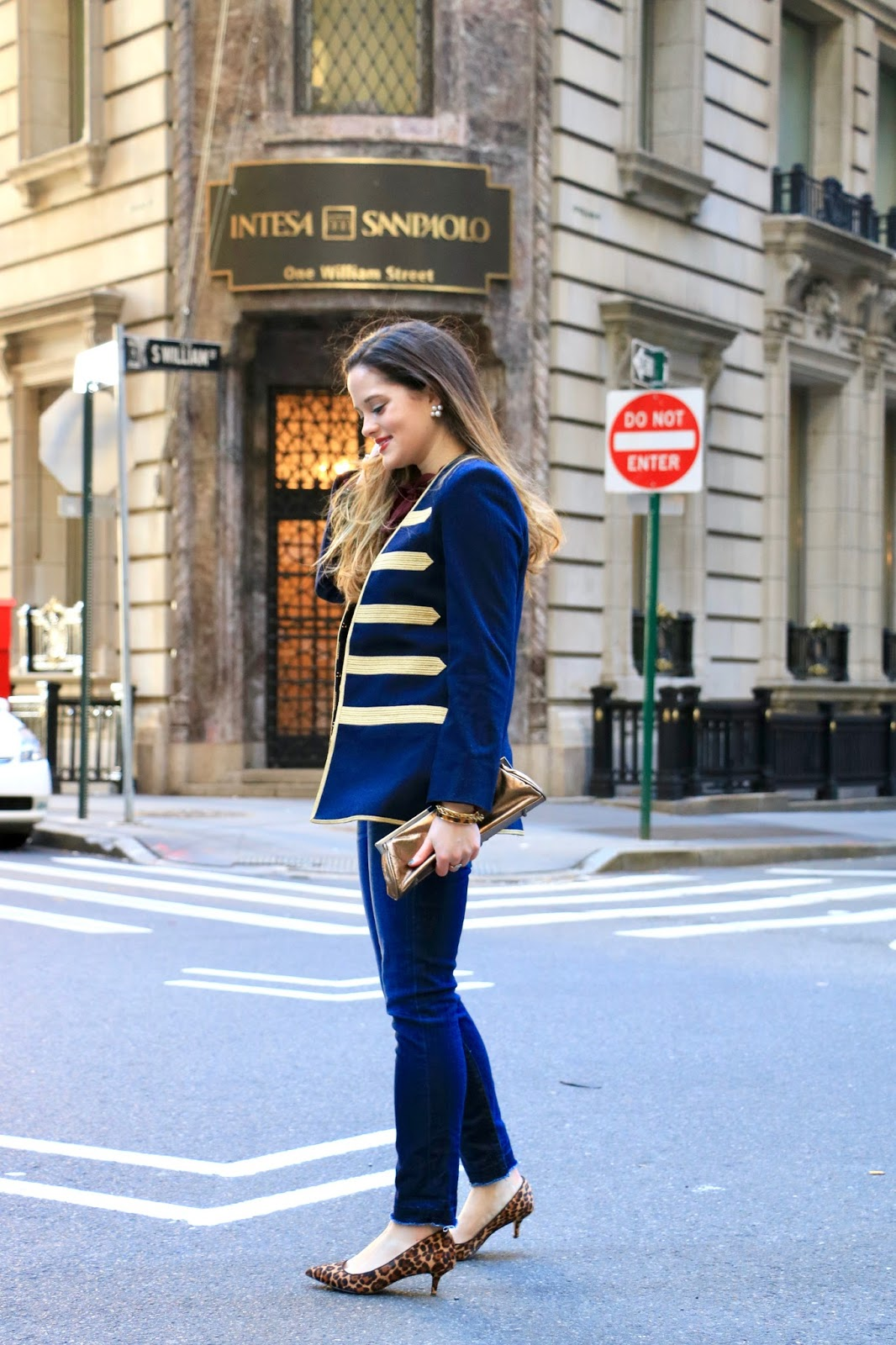 Nyc fashion blogger Kathleen Harper showing how to wear military trend