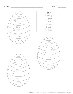 Classroom Freebies Too: Easter themed Math Facts