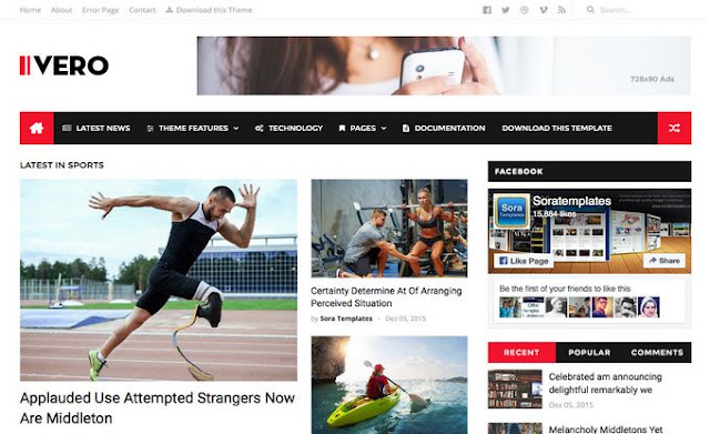 Ivero Blogger Template. Blog and magazine blogger template help to design your magazine blogs. Thats help to make your magazine blog awesome look and eye catching design. Download Ivero Blogger Template.