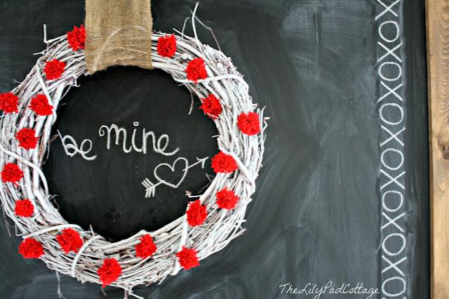 Valentines chalkboard