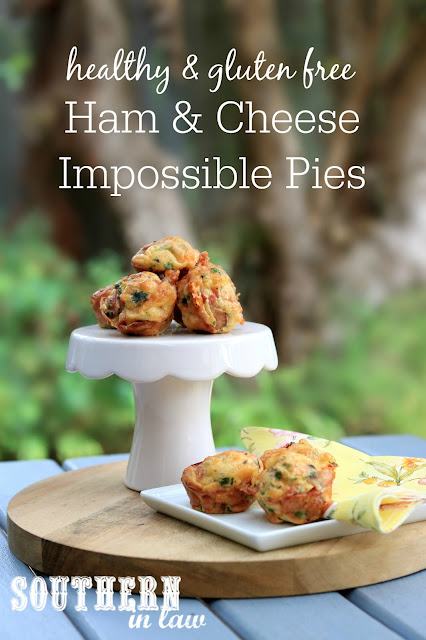 Easy Gluten Free Ham and Cheese Impossible Pie Recipe - gluten free, dairy free, high protein, meal prep, make ahead, sugar free