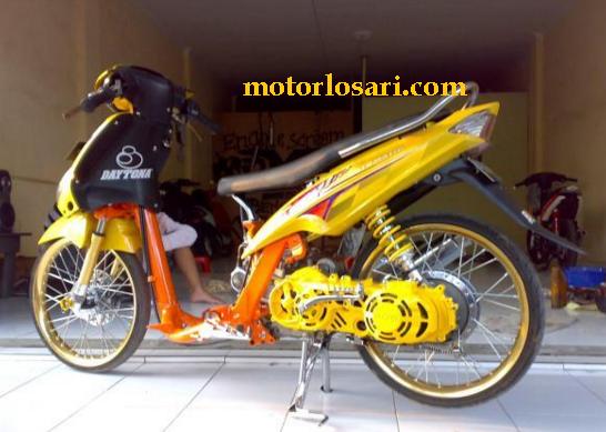 modifikasi motor mio drag race