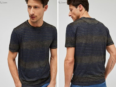 camiseta de rayas para hombre