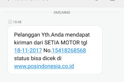 PT. POS Indonesia Semakin Baik, Ada Notifikasi SMS