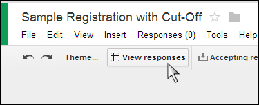 """`Click on """"View responses""""."""