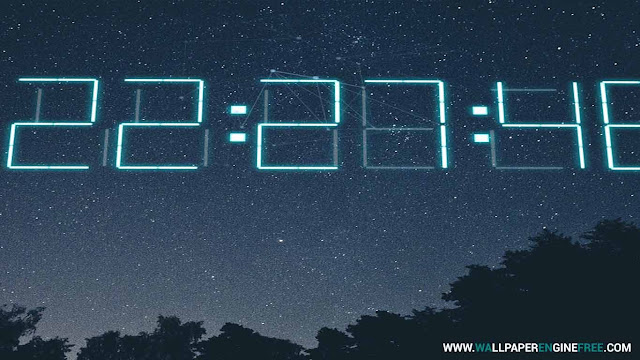 Download Time lapse + 3D Digital Clock Wallpaper Engine