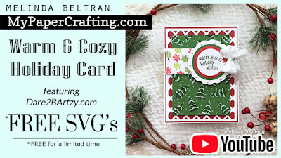 Warm & Cozy Holiday Wishes Card with FREE SVG