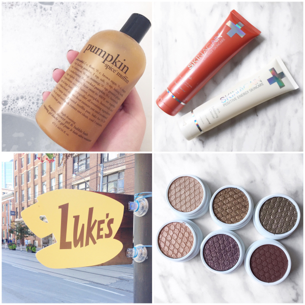 bbloggers, bbloggersca, canadian beauty bloggers, instamonth, beauty blogger, pamper session, philosophy, pumpkin spice muffin, skinagain aha cleanser, scar cream, luke's diner, toronto, colourpop mile high