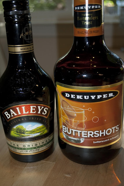 buttery nipple shot, Baileys, Irish Cream Liqueur, butterscotch schnapps