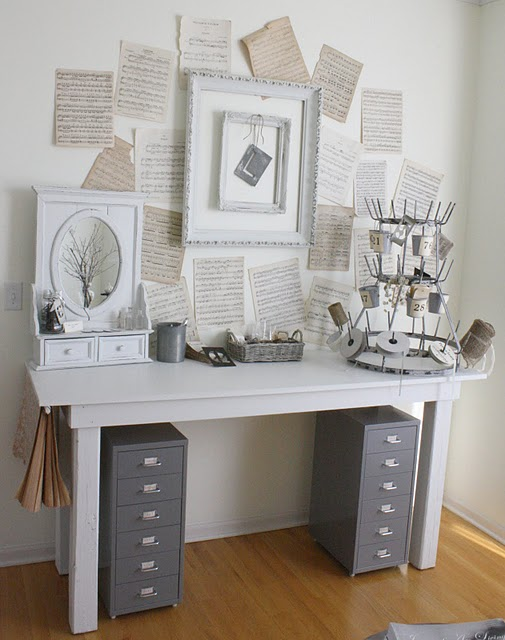 cool shabby chic home office decor | * Lilly Queen Vintage : Shabby Chic Office Inspirational ...