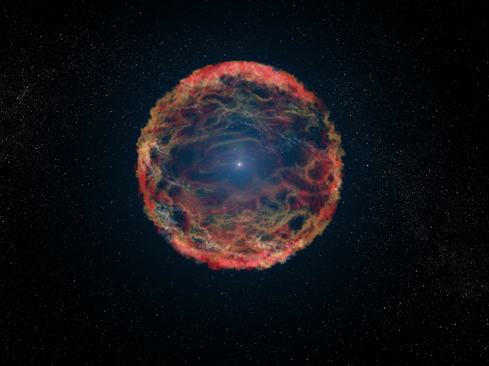 Artist's impression of a Supernova. Image Credit NASA, ESA, G. Bacon (STSci)