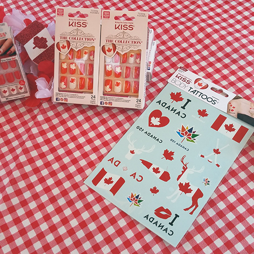 KISS Canada's Day Collection Body Tattoos, Impress Nails ~  #Review #Giveaway