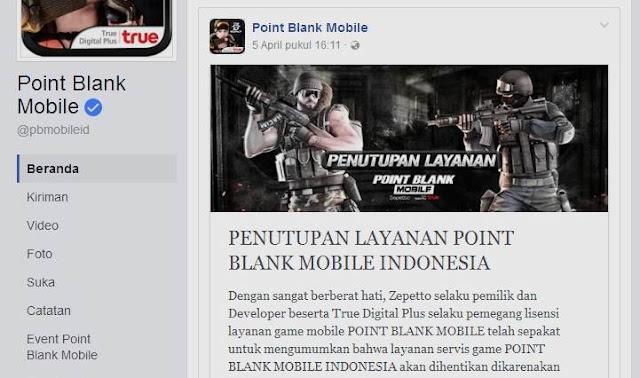 Layanan Point Blank Mobile Akan Ditutup Di Indonesia