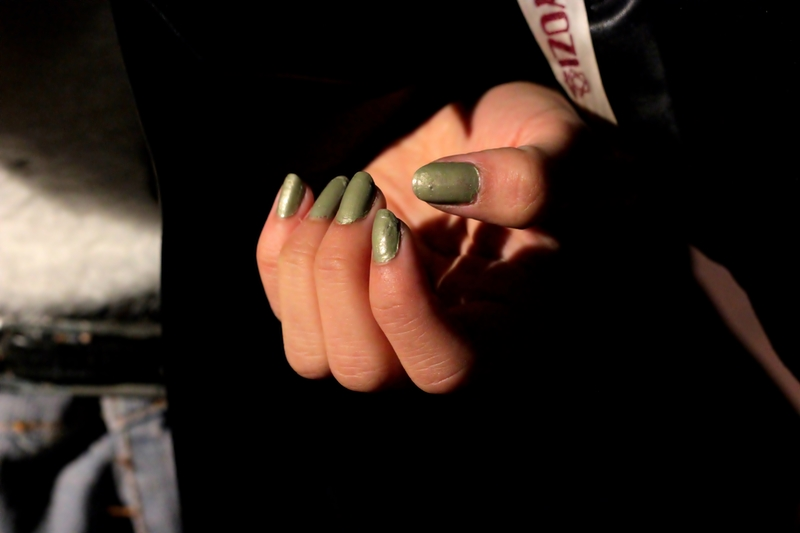 nails green cool fashion