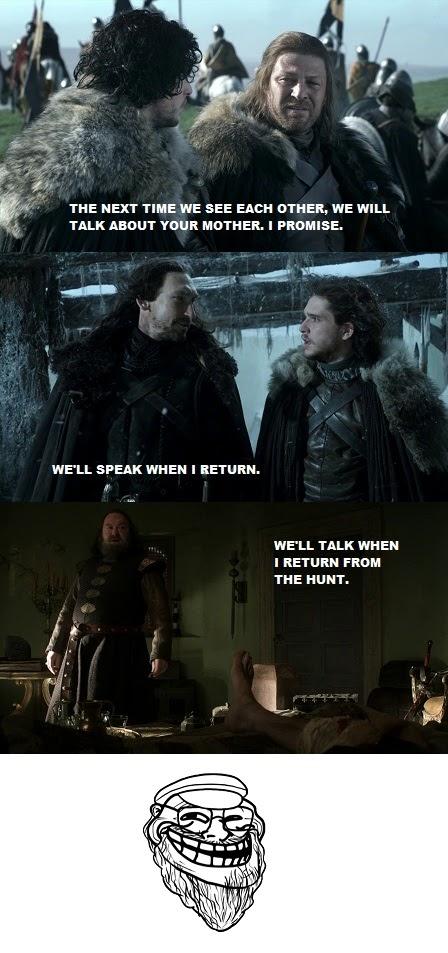 Meme de humor sobre Juego de tronos