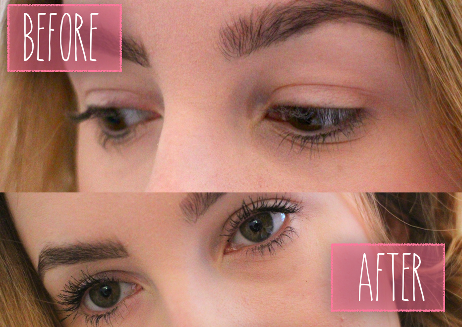 Too Faced Better Than Sex Mascara before and after