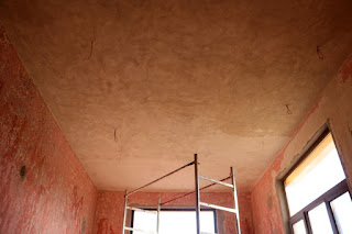 Ceiling plastered