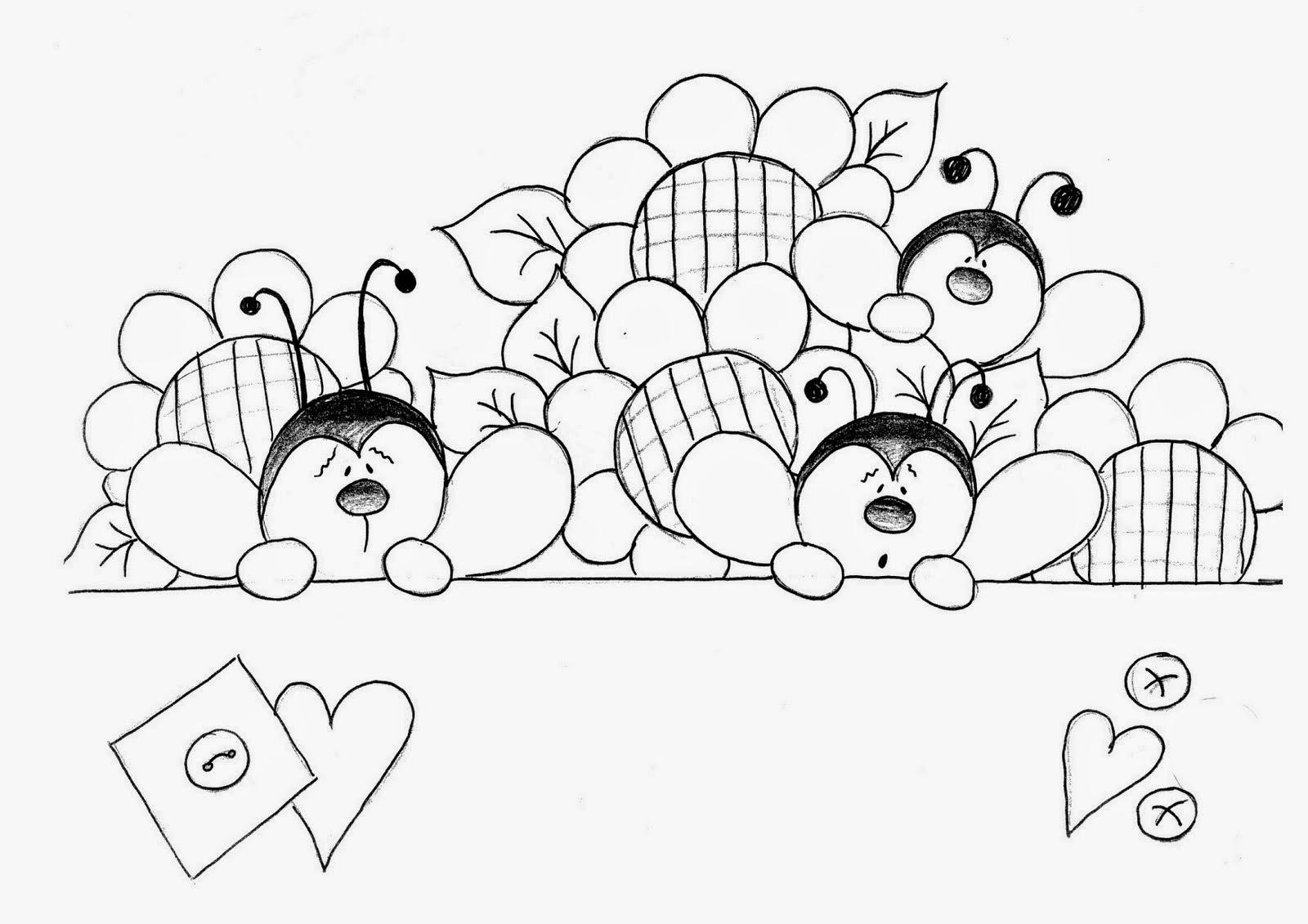 469081f3eb Muitos moldes e riscos de joaninhas, desenhos de joaninhas lindos para você  imprimir, colorir, pintar!