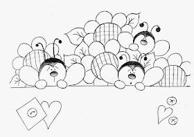 Bauzinho Da Web Bau Da Web Desenhos E Riscos De Joaninhas Para