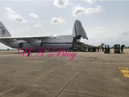 Brand New MI-35M Combat Helicopters From Russia Land In Benue State (Photos)