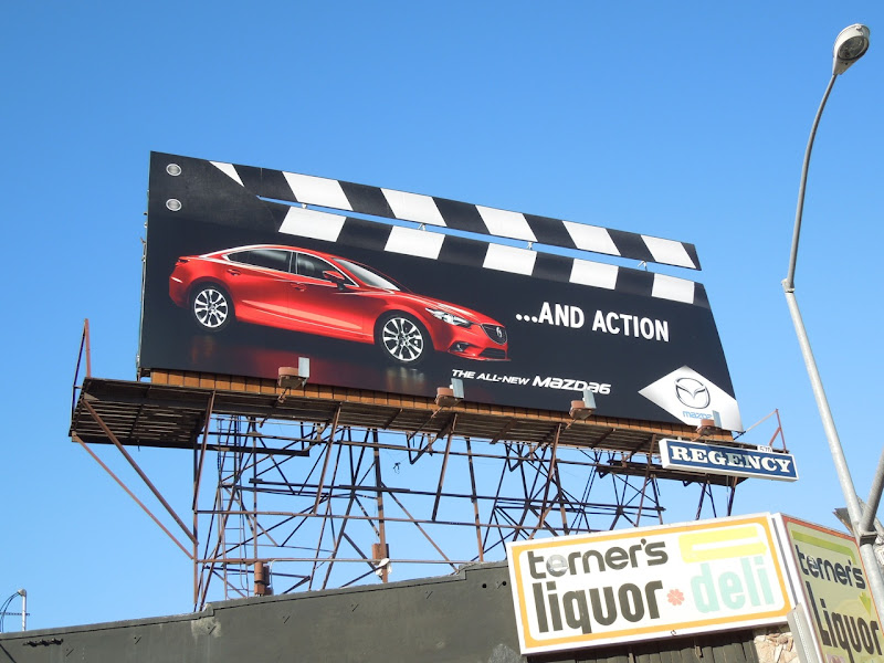 Mazda 6 Clapperboard billboard