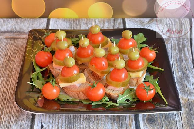 Sylwestrowe kanapeczki koreczki