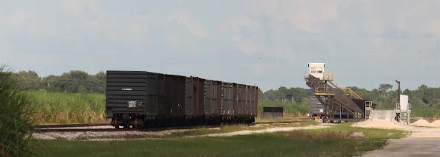 Vías férreas y vagones de la US Sugar Corporation