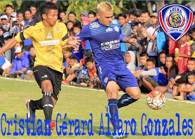 gambar Eksklusif Poster terbaru Cristian Gonzáles Arema FC