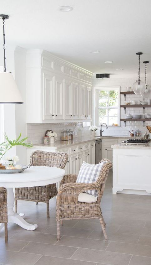 white provence kitchen