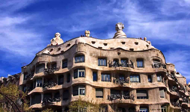 Front View: Casa Mila, Barcelona