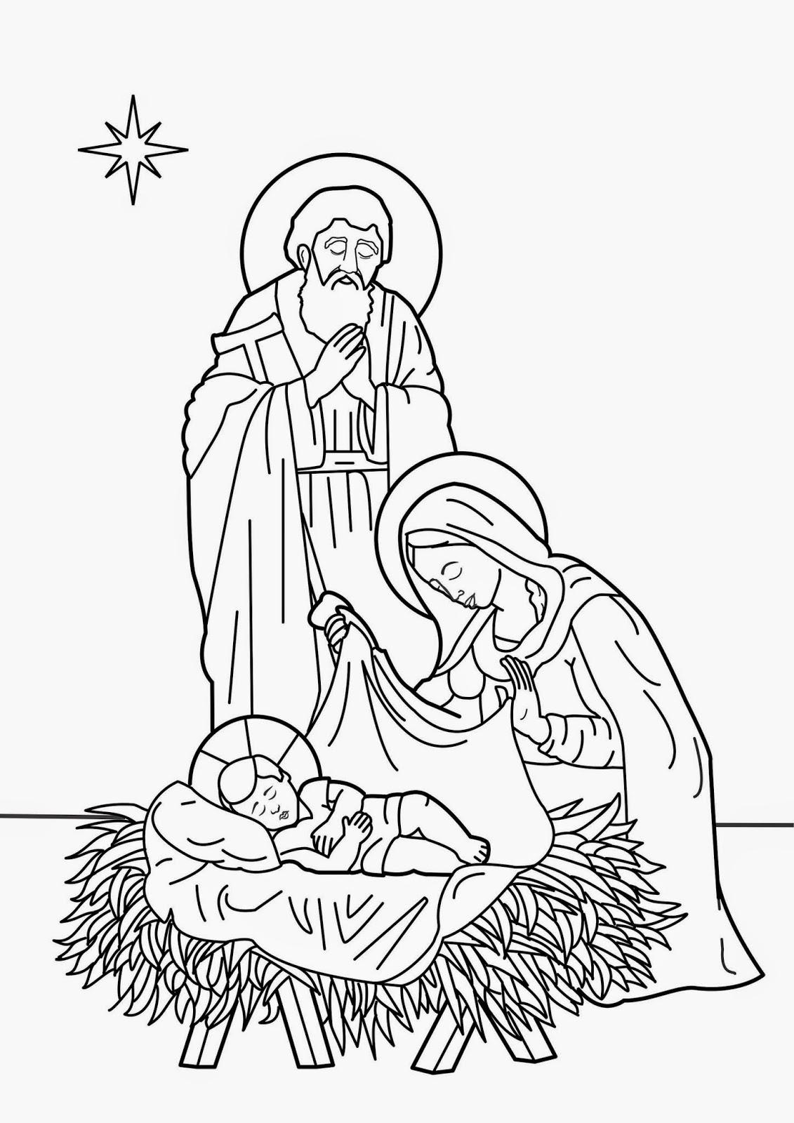 Nacimiento De Jesus Para Colorear Dibujos Cristianos