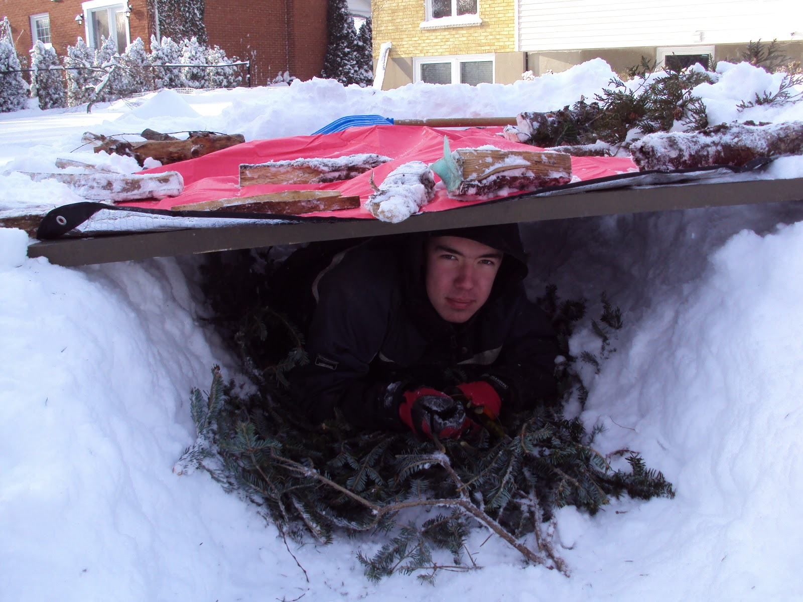 Bens Blog Winter Survival Shelter The Snow Trench