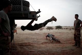 Operation Barkhane; French soldiers enjoying free time