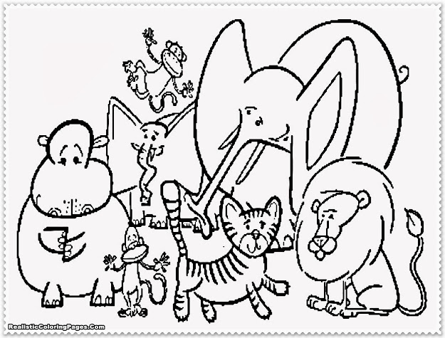 Free Zoo Animals Coloring Pages Designs