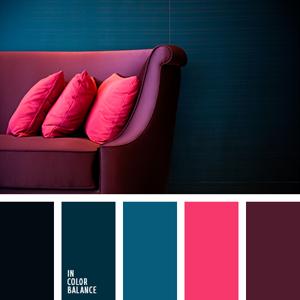 Интерьер помещений - - гармоничные палитры в 5 цветов