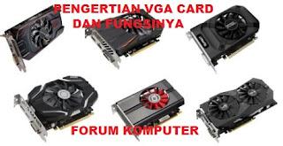 Pengertian VGA card komputer dan fungsinya