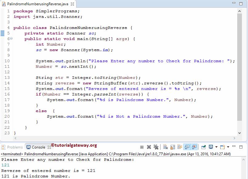 Java Program: Number Palindromes - Web Development and Design