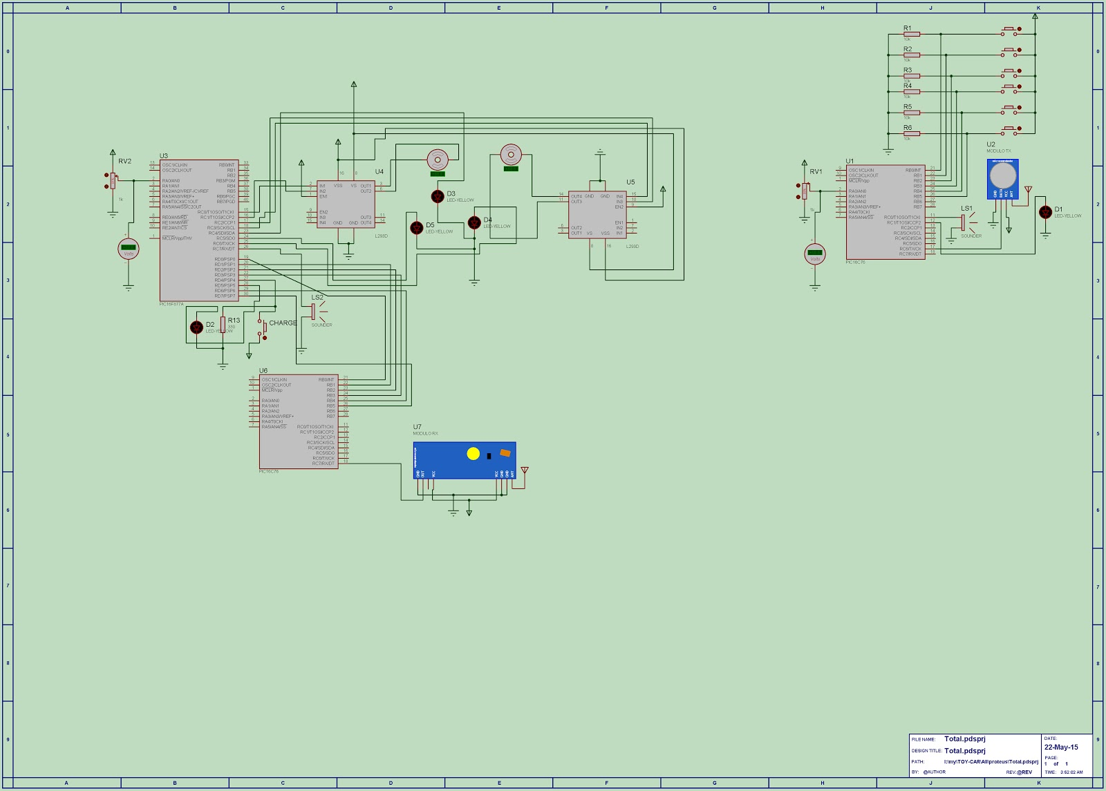 Circuit Diagram The Schematic Of Door Alarm