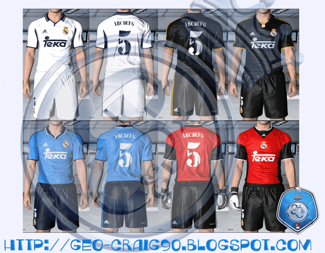 huge discount 31342 88a8b Real Madrid Kit Season 2000-01 HD - PES 2017 - PATCH PES ...