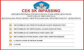 Cek SK Inpassing 2019