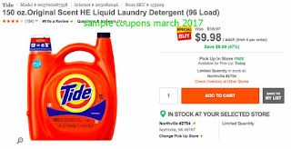 Tide coupons march