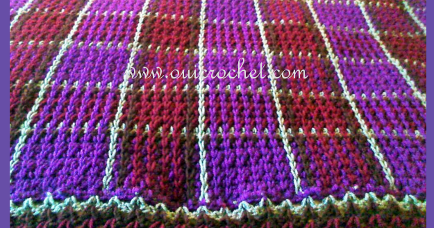 Free Crochet Patterns Tartan Rugs : Oui Crochet: Crochet Plaid Blanket {Free Crochet Pattern}