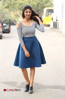 Telugu Actress Roshini Prakash Stills Short Dress at Saptagiri Express Release Press Meet  0228.JPG