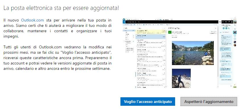 Come ottenere subito il nuovo Outlook.com 3